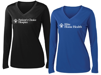 *DRY FIT* LHC Long Sleeve Ladies Branch Tee (One color logo)
