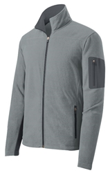 Unisex Port Authority® Summit Fleece Full-Zip Jacket - Frost Grey