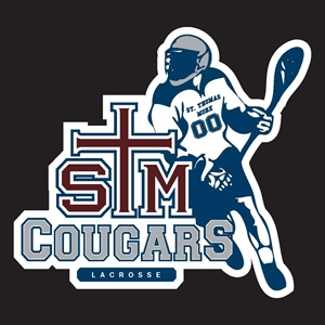 STM Lacrosse Player Decal