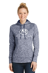 STM Sport Tek Ladies Electric Heather Fleece Hooded Pullover