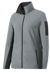 Port Authority® Ladies Summit Fleece Full-Zip Jacket - Frost Grey