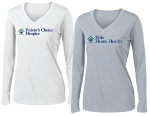 *DRY FIT* LHC Long Sleeve Ladies Branch Tee (Full color logo)