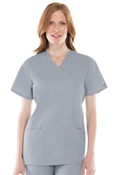 Cherokee Workwear Mock Wrap Tunic